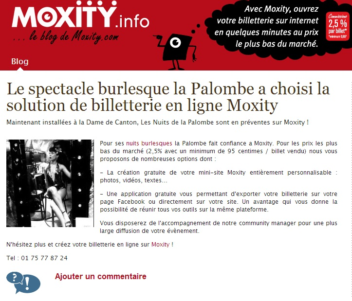 Moxity - la Palombe