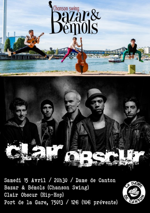 affiche Clair Obscur + B&B 15 04 17